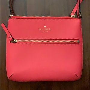 Coral pink Kate Spade crossbody bag